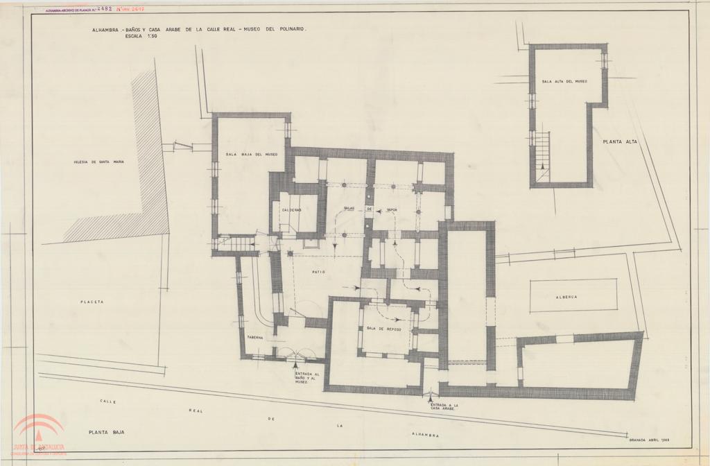 Baños Arabes Real De La Alhambra:Alhambra Calle Real Baños (de la Mezquita) y casa árabe Museo del