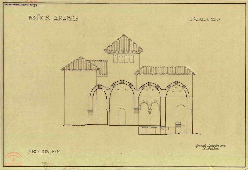 """Baños Arabes Real Alhambra Granada:Visualización de Colección de Planos por tema """"Baños Árabes Baños"""