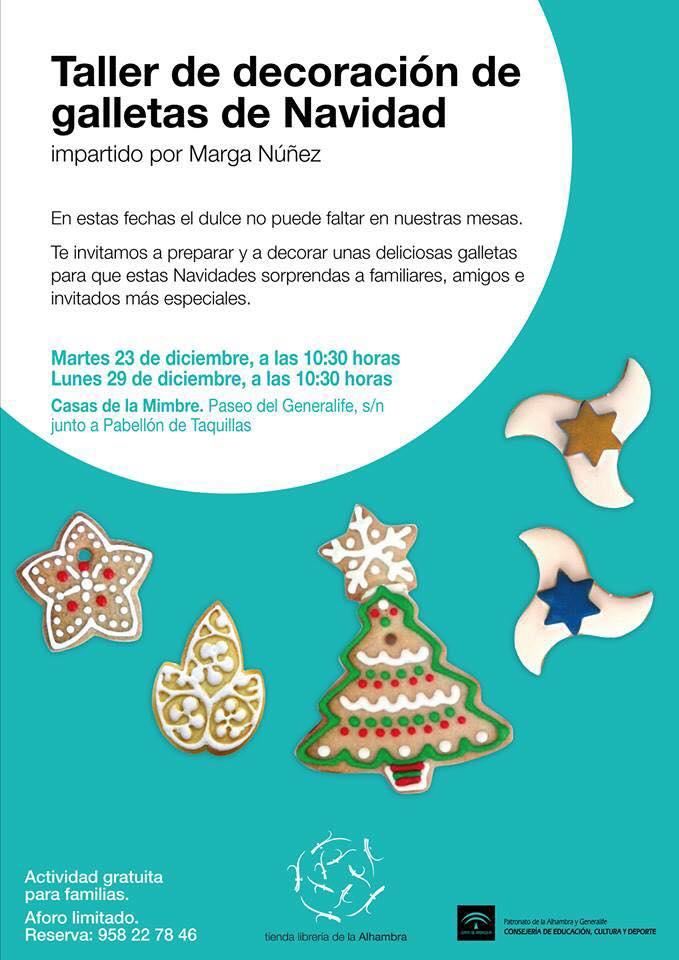 Talleres de decoración de galletas y cuentacuentos en Navidad
