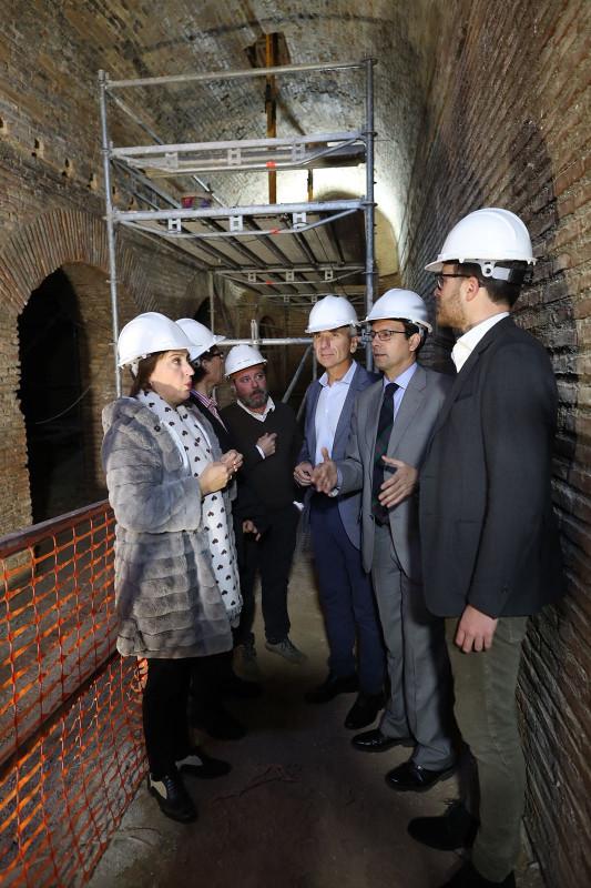 La Alhambra inicia la restauración de Torres Bermejas con el hallazgo de estructuras originales del siglo XIII