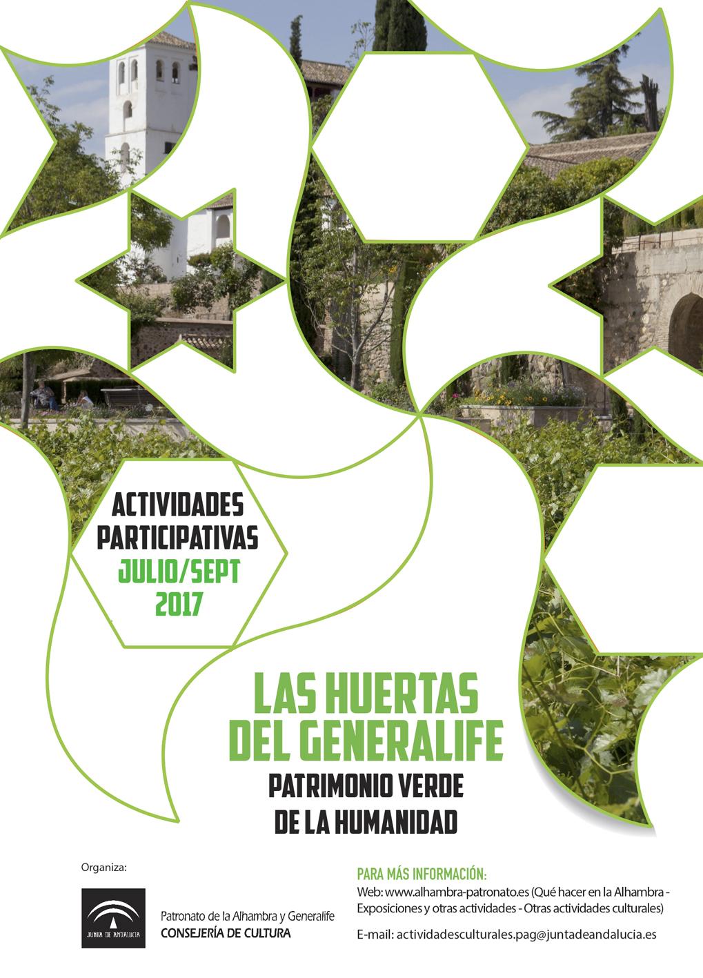 LAS HUERTAS DEL GENERALIFE. Patrimonio verde de la humanidad