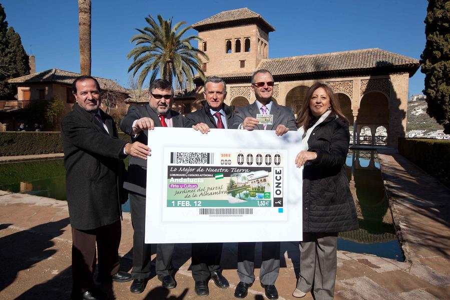 La ONCE lleva a la Alhambra a cinco millones de cupones