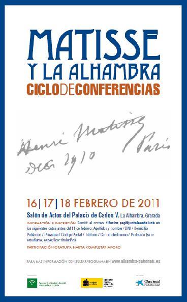 Conferencias Matisse y la Alhambra