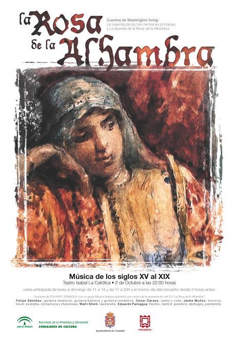 El compositor Eduardo Paniagua rinde homenaje a Washington Irving en 'la rosa de la Alhambra'