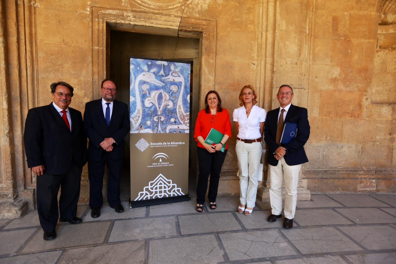 Se firma el convenio para la formación del consorcio de La Escuela de la Alhambra como centro de Estudios Avanzados e Investigación