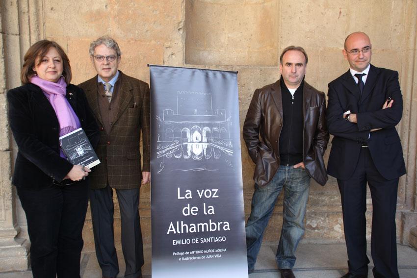 """La directora del Patronato de la Alhambra presenta el libro """"La voz de la Alhambra"""", de Emilio de Santiago"""