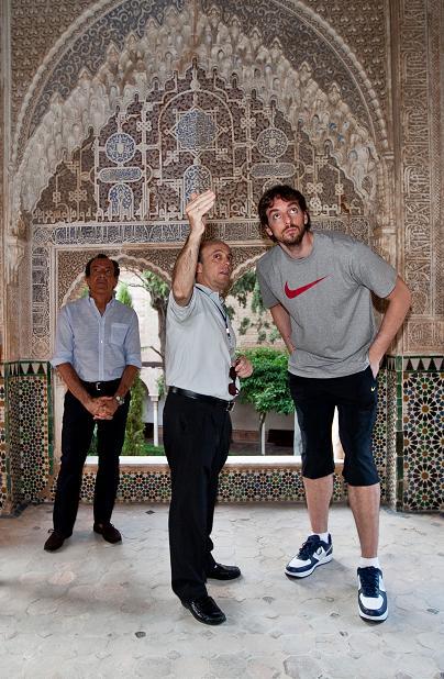 Pau Gasol, seducido por la Alhambra