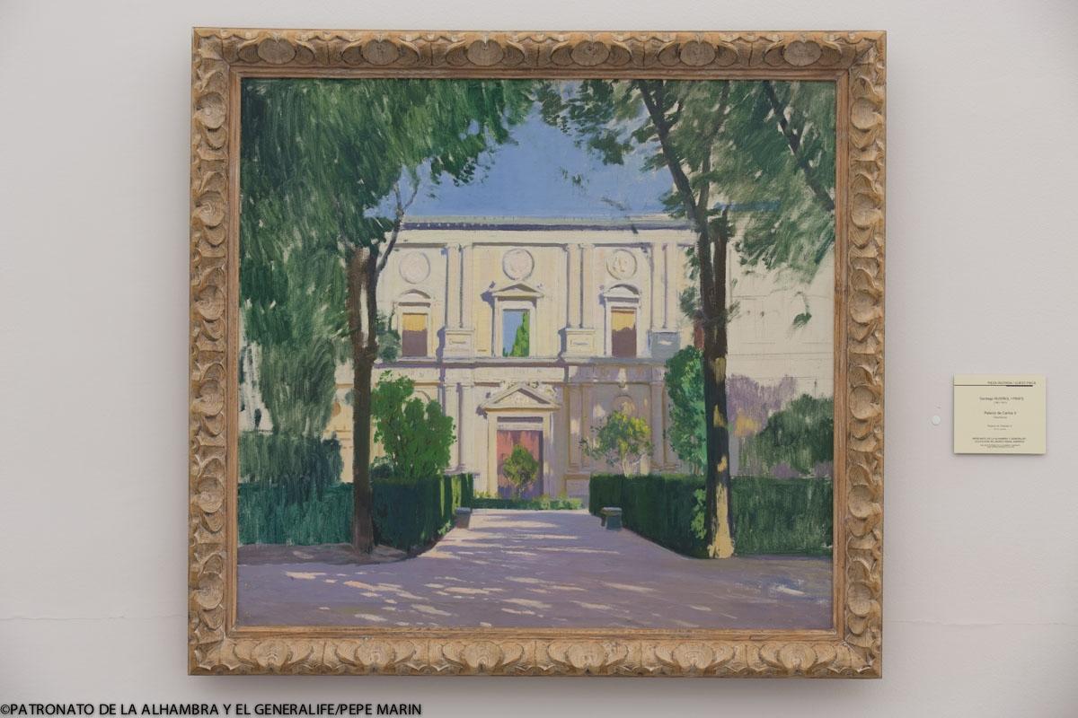 La Alhambra cede el cuadro 'Palacio de Carlos V', de Rusiñol, al Museo de Bellas Artes de Granada