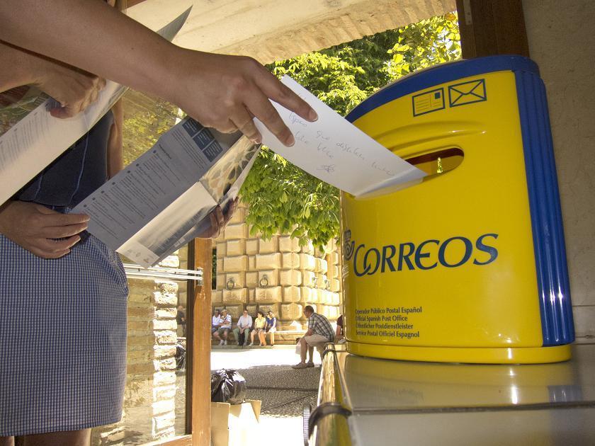 De la Alhambra al mundo vía postal