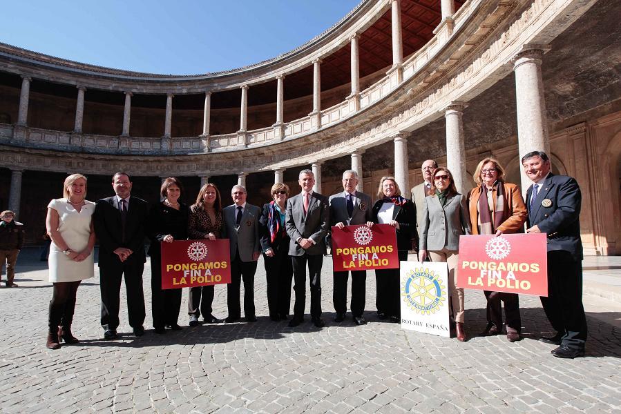 """La Alhambra de Granada se iluminará con el logotipo de la campaña de Rotary Internacional """"Pongamos fin a la Polio"""""""