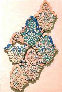 Paño  de  sebka  en  cerámica. Puerta de la Justicia