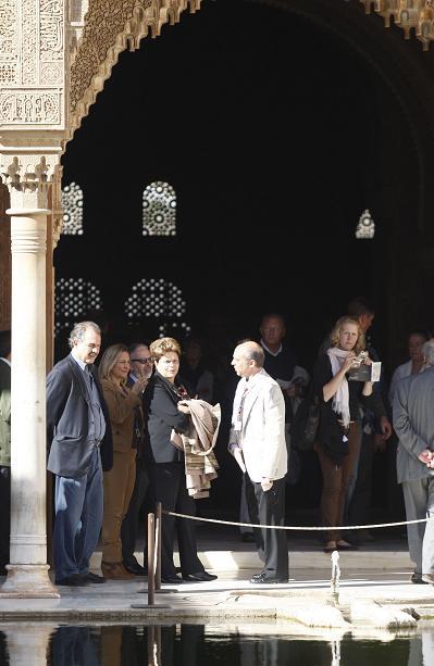 La presidenta de Brasil visita la Alhambra