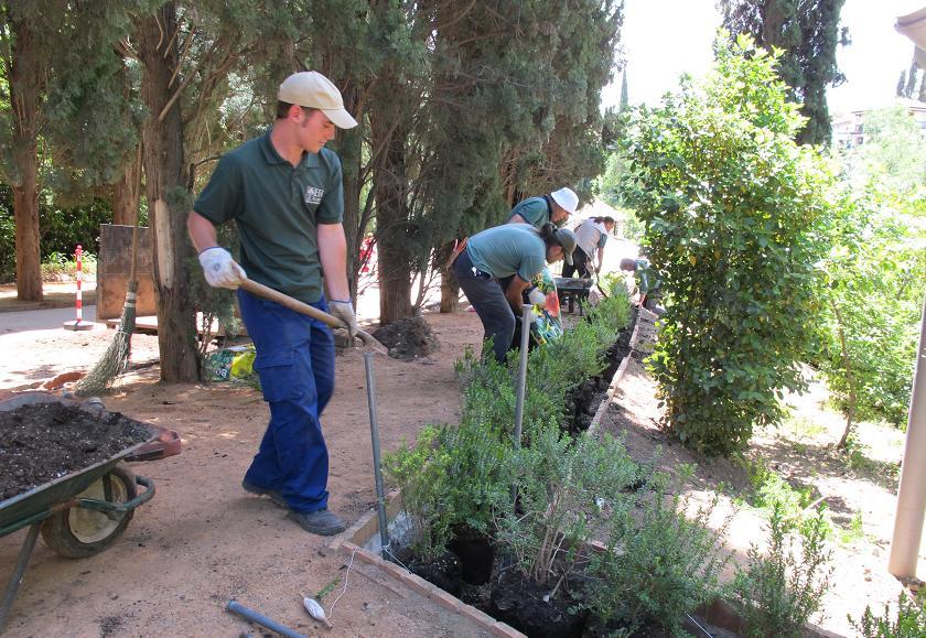 El Patronato de la Alhambra y Generalife participa en programas de formación de empleo a jóvenes