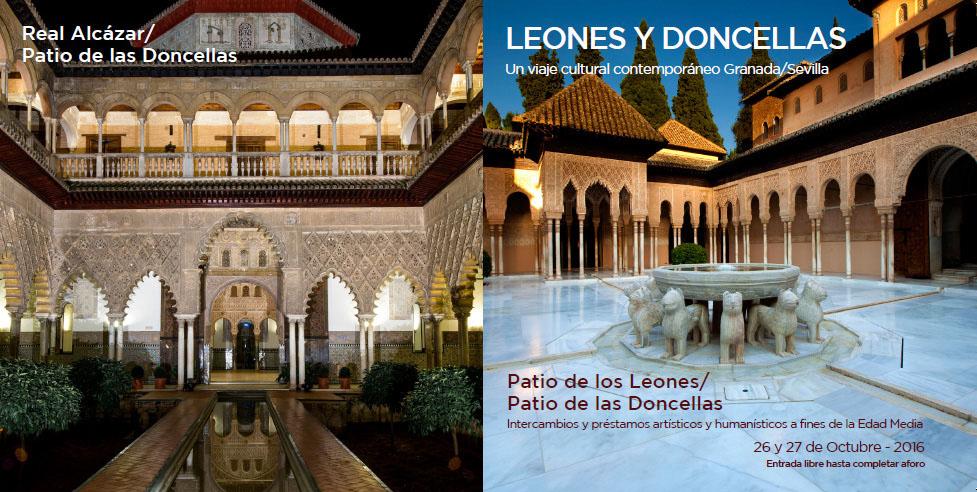 El Patio de los Leones de la Alhambra y el Patio de las Doncellas del Real Alcázar de Sevilla, a debate