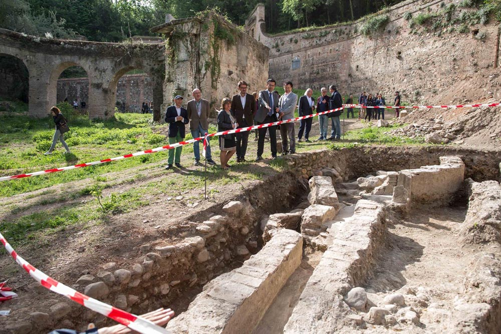 La Alhambra y el Ayuntamiento de Granada inician los trabajos arqueológicos en el Paseo de Romayla