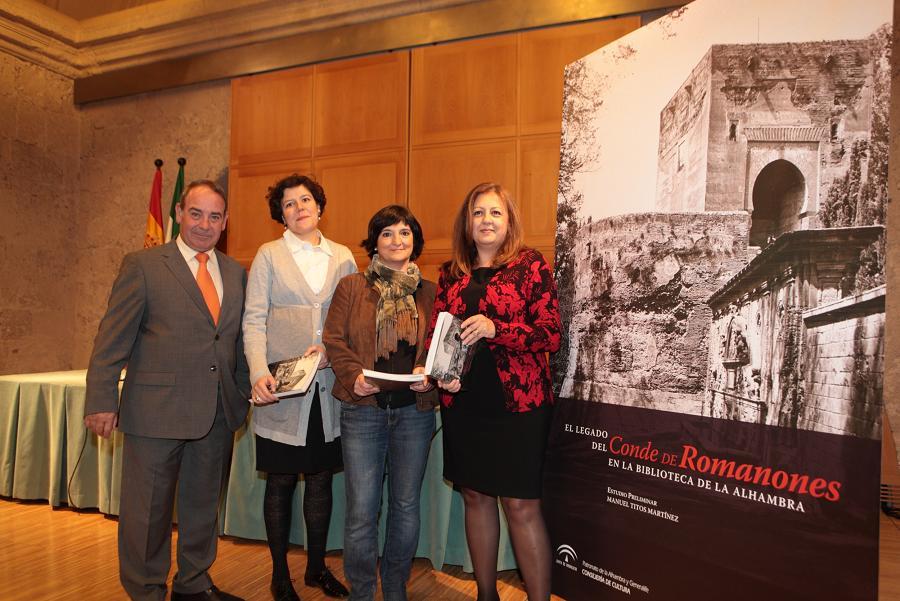"""Presentación del libro """"El Legado del Conde de Romanones en la Biblioteca de la Alhambra"""""""