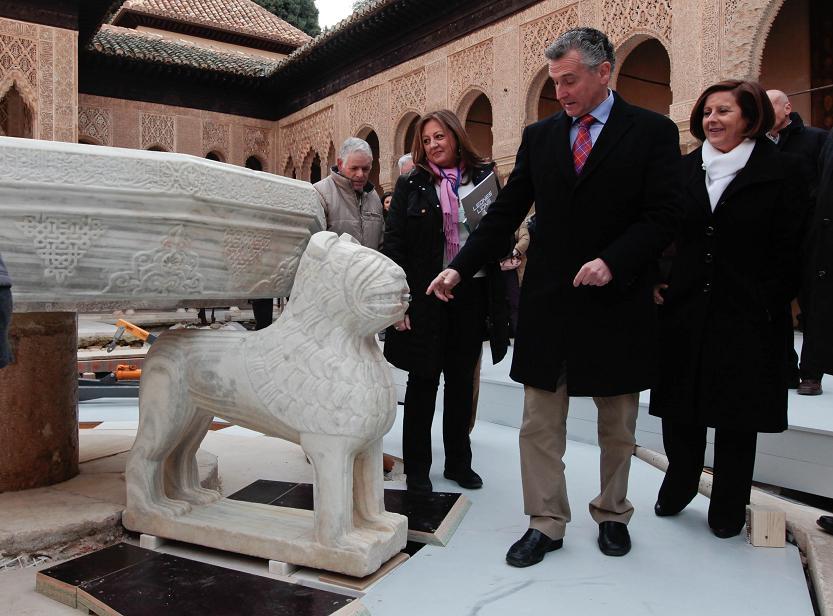Los Leones de la Alhambra vuelven a los Palacios Nazaríes