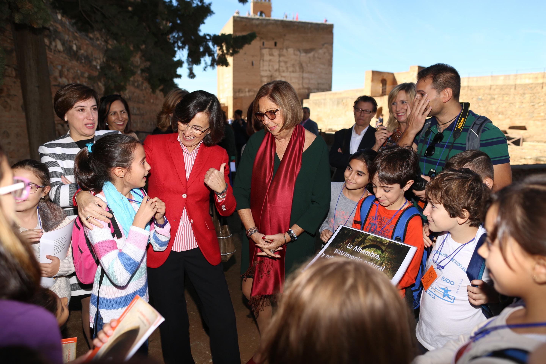 Más de 2,700 escolares de Granada participan en el programa educativo 'Vivir y sentir la Alhambra'