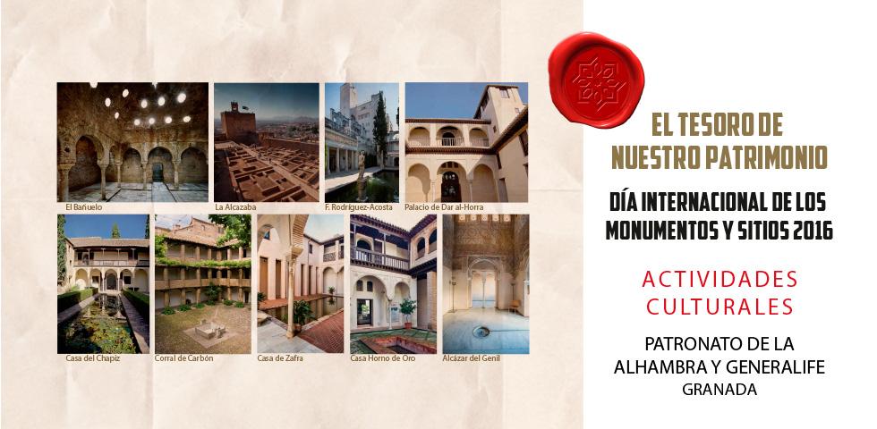 La Alhambra y Granada celebran el Día de los Monumentos con actividades culturales gratuitas en espacios de la Dobla de Oro