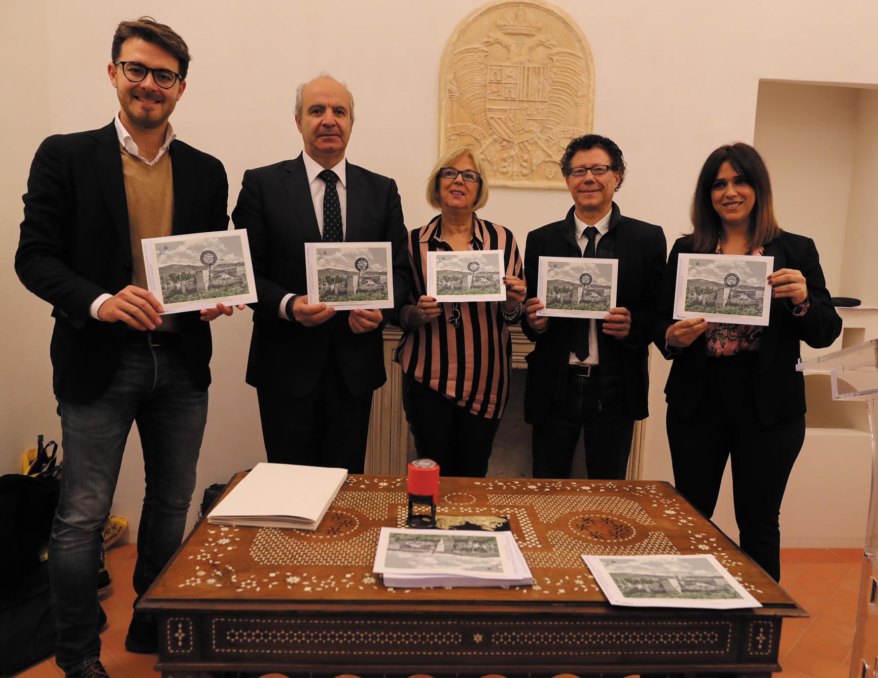 CORREOS presenta la emisión filatélica dedicada al Conjunto Urbano Patrimonio de la Humanidad de Granada