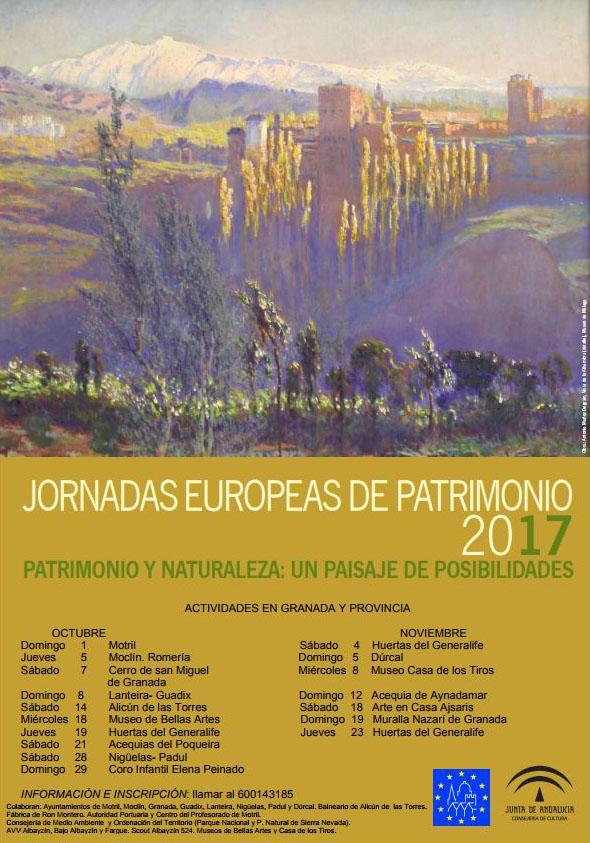 La Alhambra con visitas a las Huertas del Generalife participa en las Jornadas Europeas de Patrimonio