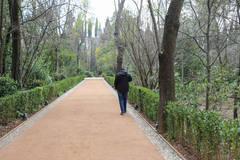 La Alhambra abre al público el tramo este del Paseo de los Cipreses