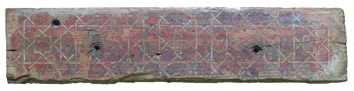El dintel decorado con geometría del Mexuar, pieza del mes en el Museo de la Alhambra