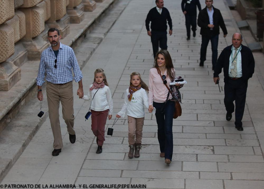 Los Príncipes de Asturias, en la Alhambra