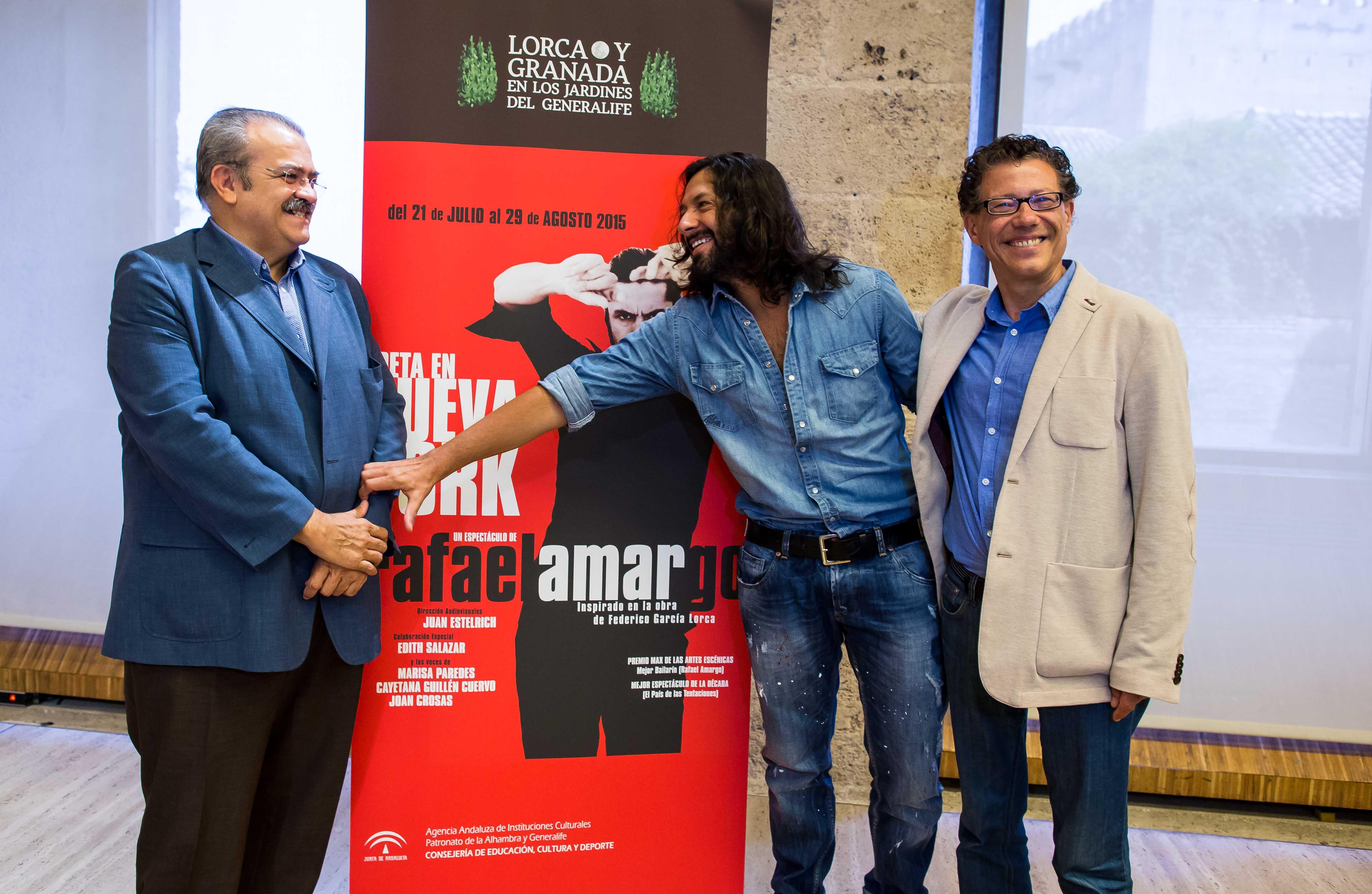 Más de 40.100 espectadores han pasado por el teatro del Generalife para ver Poeta en Nueva York de Rafael Amargo