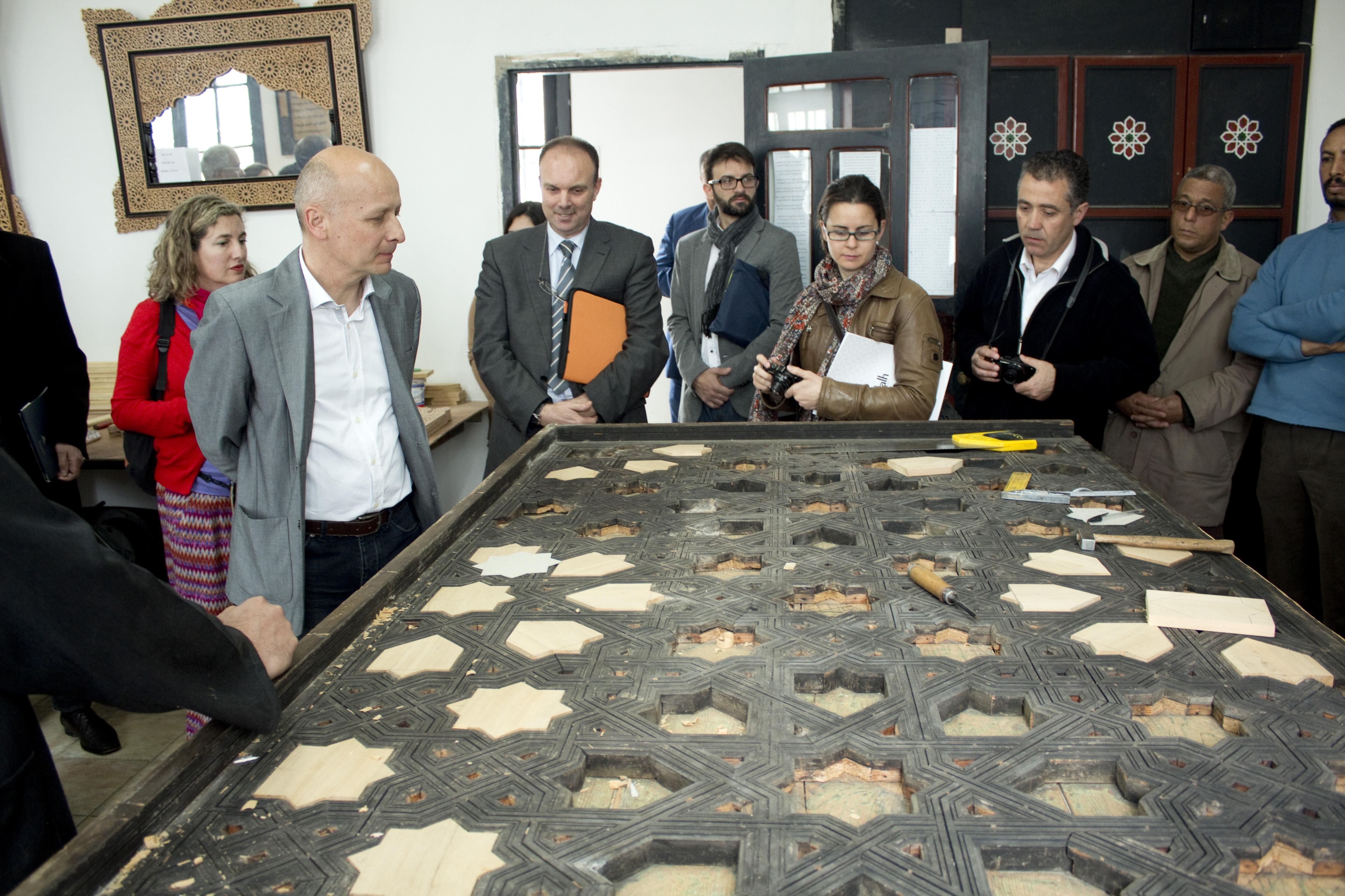 Restauradores de la Alhambra y artesanos granadinos 'viajan' a Marruecos para identificar técnicas arquitectónicas y decorativas