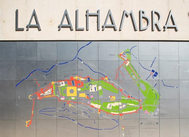 Mapa Alhambra