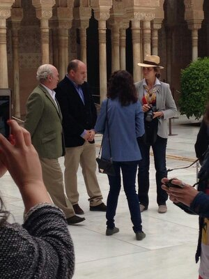 The Infanta Elena visits the Alhambra like any normal tourist
