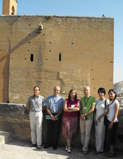 The Director of the Patronato de la Alhambra y Generalife visits the tower Torre de la Pólvora, opened to the public after restoration works