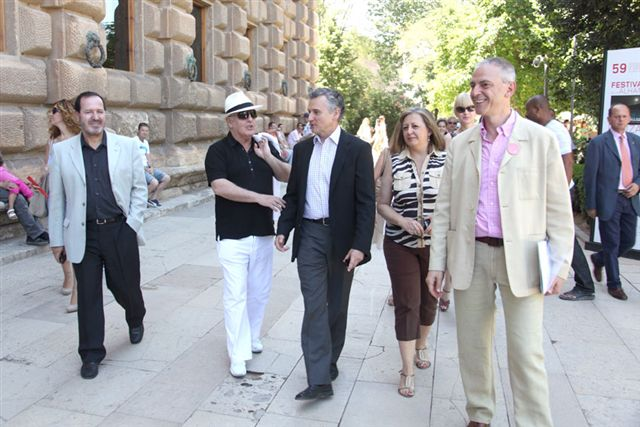 Daniel Barenboim participates in the 2010 Granada International Festival of Music and Dance