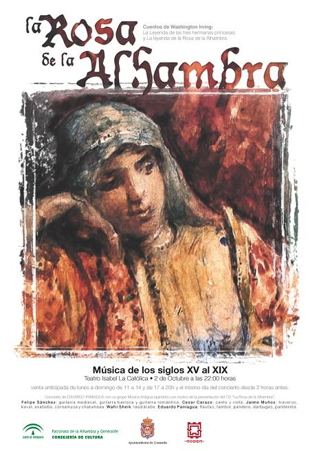 """Tribute to Washington Irving by Eduardo Paniagua in """"the Rose of the Alhambra"""""""