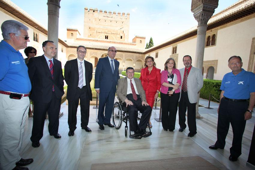"""The Ministry of Culture, together with Obra Social """"la Caixa"""" and the Patronato de la Alhambra, presents a viability study to improve the accessibility to the Monument"""