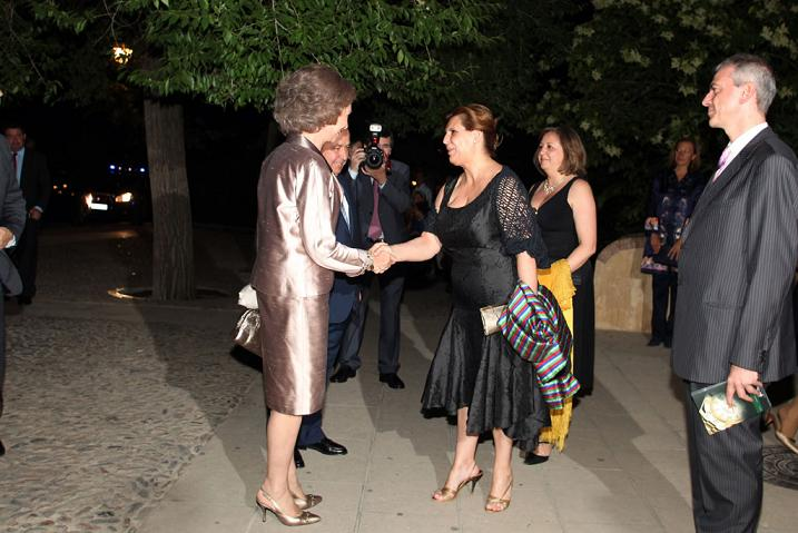 Queen Sofía of Spain is present at the spectacle of the Ballet de Ángel Corrella in the Generalife Theatre