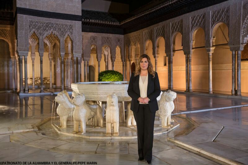 The President of the Regional Government of Andalusia makes her official Christmas speech from the Alhambra