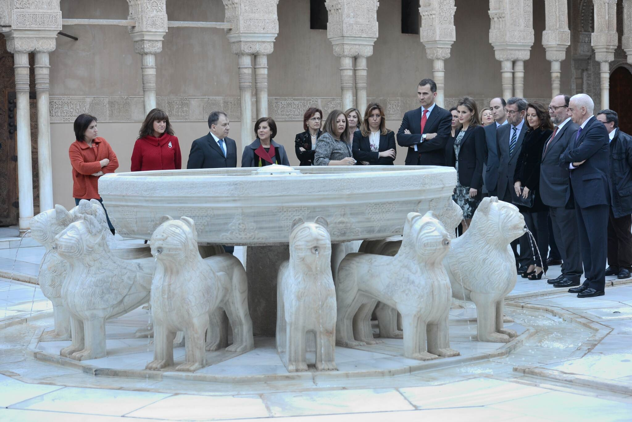 The Prince and Princess of Asturias delighted about their visit to the Alhambra