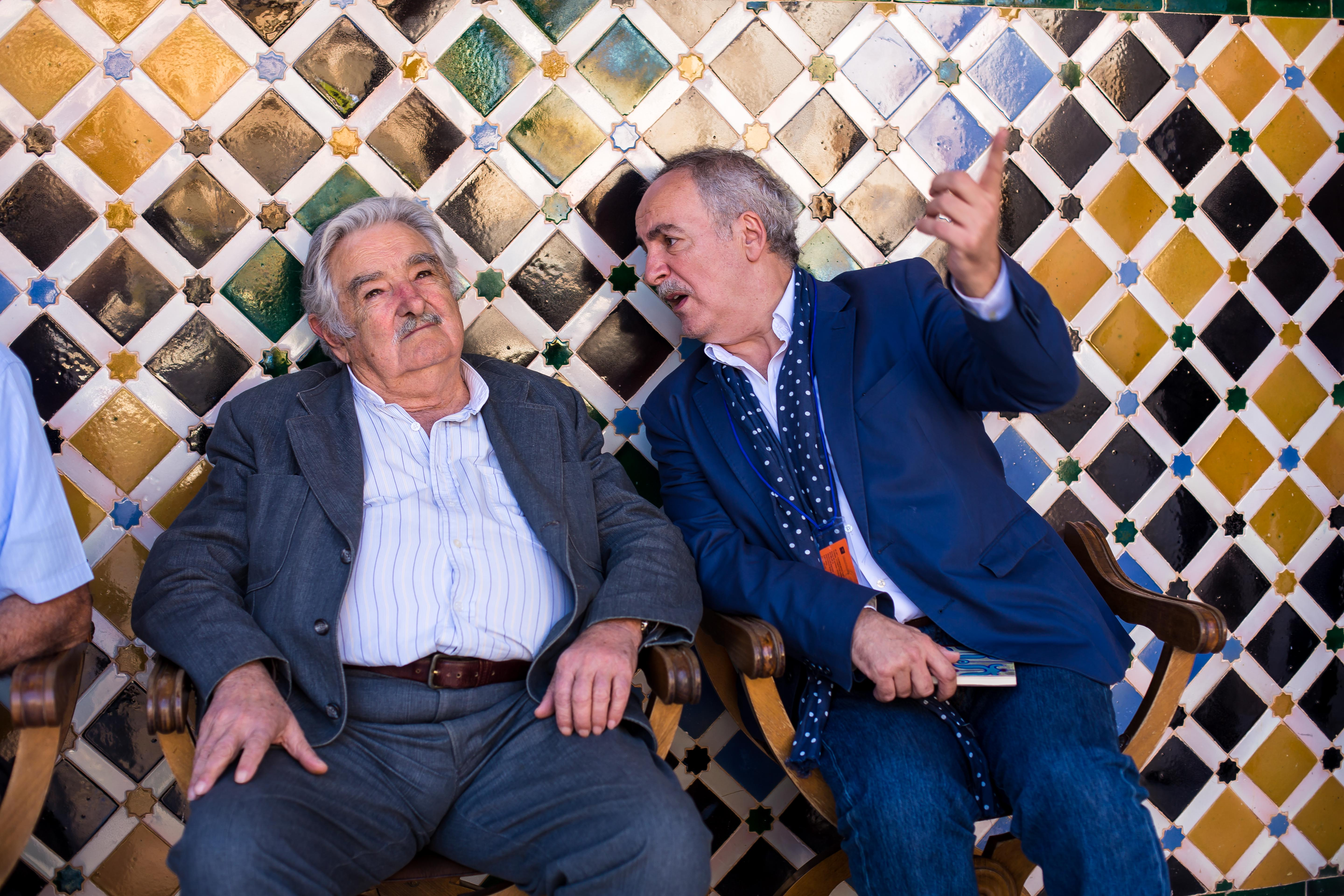 The Alhambra fascinates José Mujica, the ex-President of Uruguay