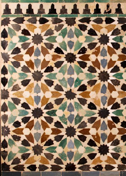 Dar al-Arusa tiled panel