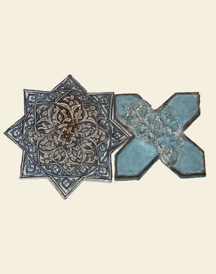 An Iranian Lajvard tile