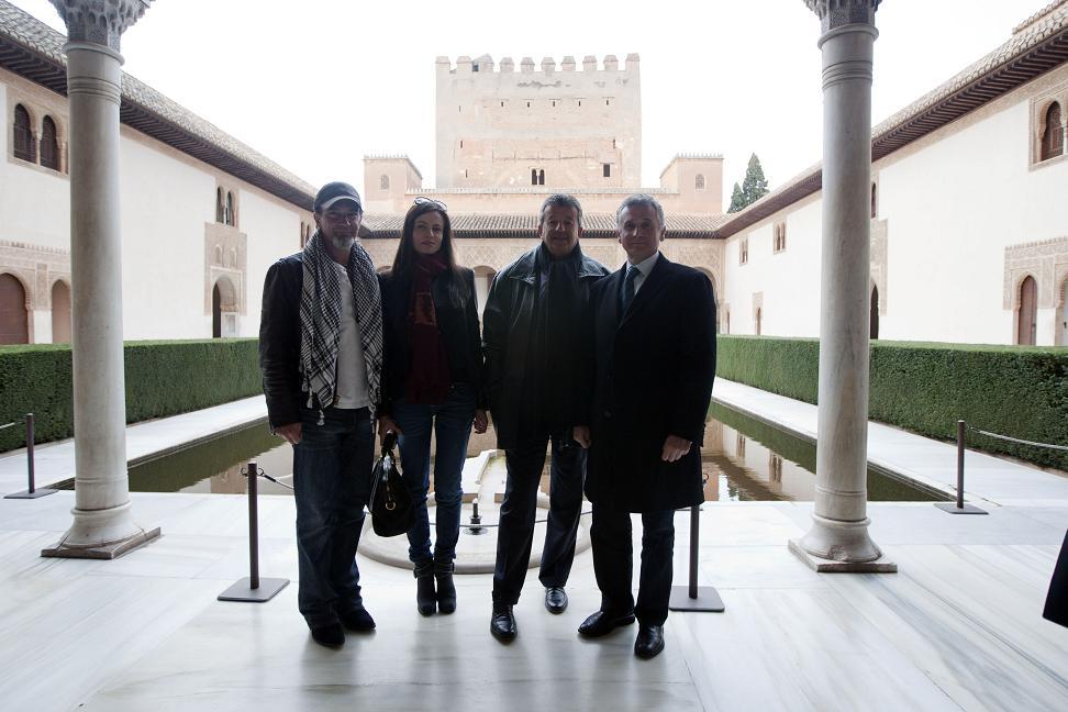 Antonio Banderas visiting the Alhambra