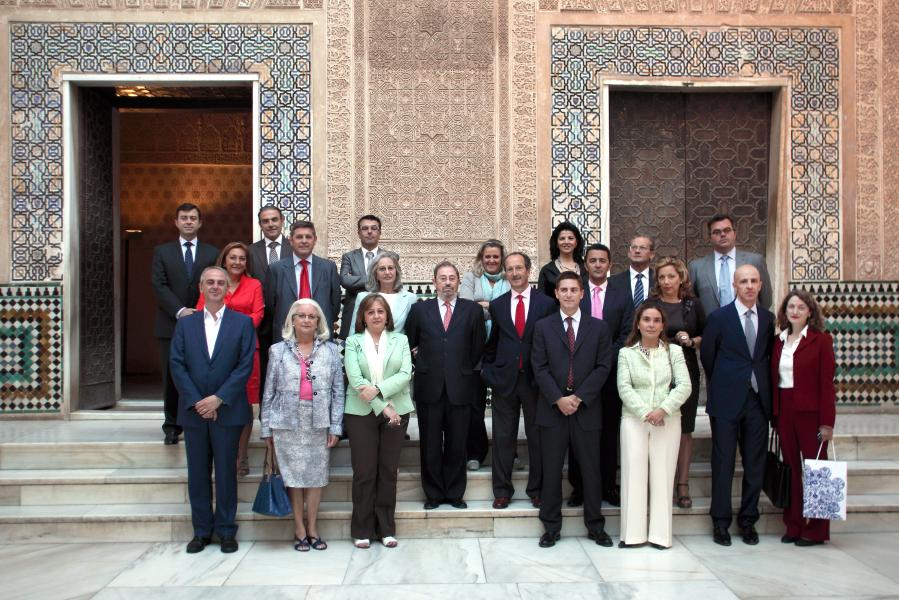 Representatives of the International Festival of Music and Dance visit the Alhambra