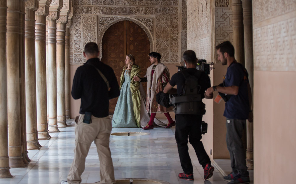 Filming in the Alhambra in the role of Charles V is a dream come true