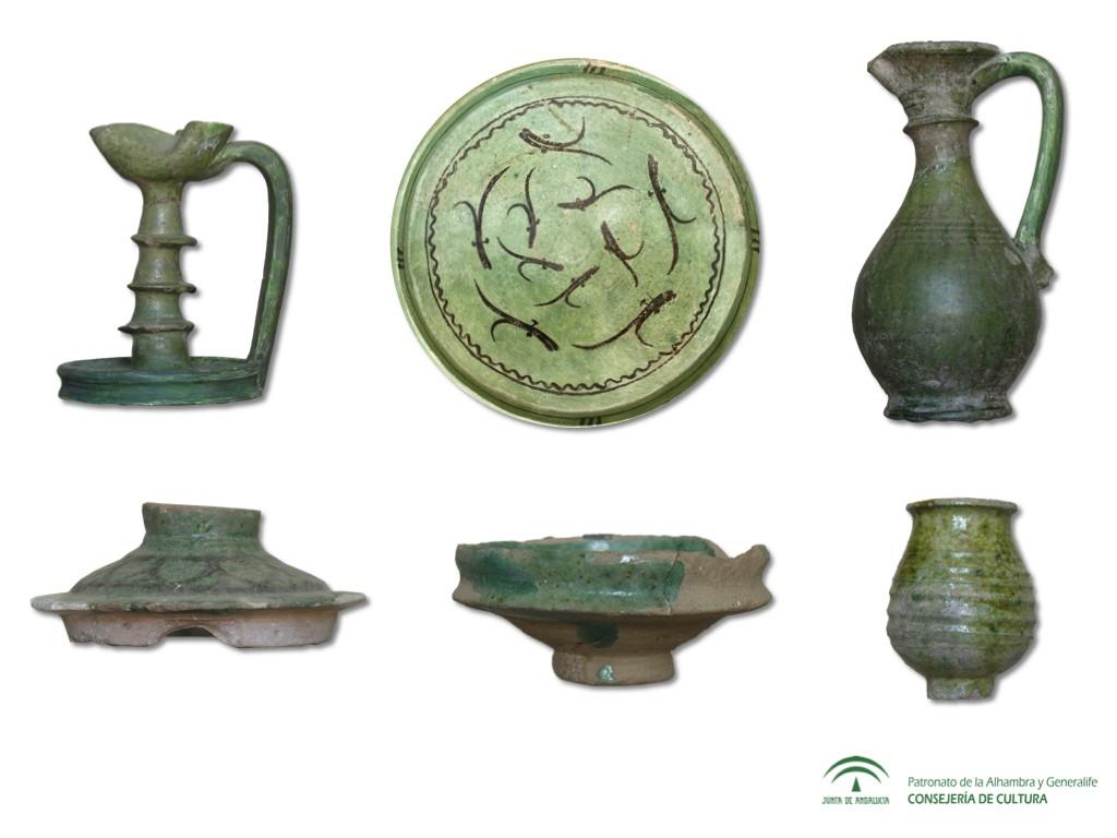 La cerámica verde nazarí