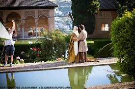The Alhambra of Granada opens its doors to the film crew of the TVE series 'Carlos, Rey Emperador'