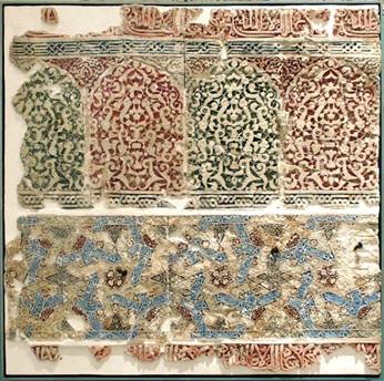 Plasterwork panel from the Bahw de la Dar Al-Manlaka Al-Sa ´Ida (Generalife)