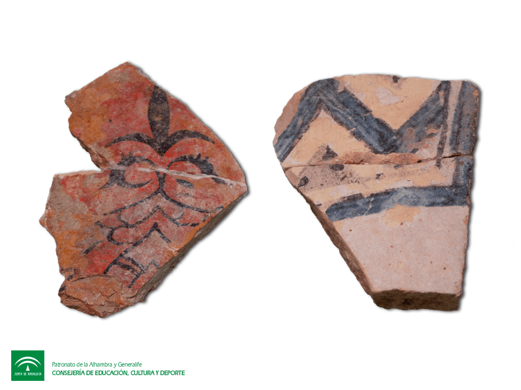 Two Decorated Nasrid Tiles
