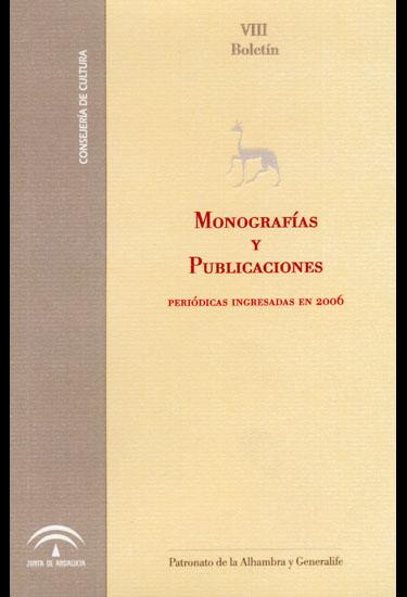 Boletín de monografías y publicaciones periódicas 2006